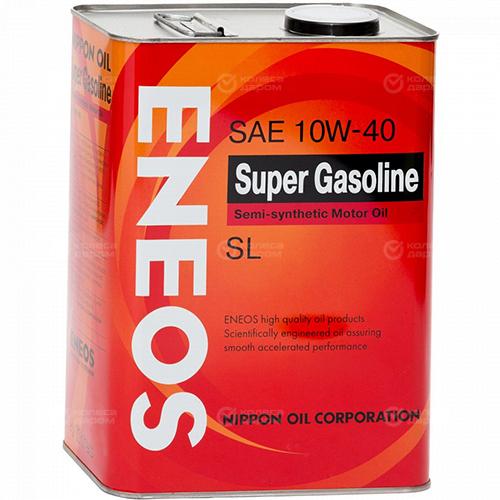 Eneos Моторное масло для автомобиля ENEOS GASOLINE SEMIS-C 10W-40 SL 4 л