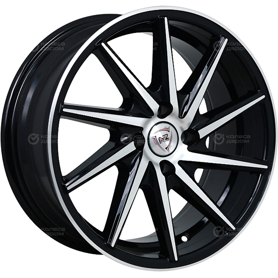 Фото - NZ H-03L 7x16/4x100 D54.1 ET32 BKF колесный диск nz wheels f 1 6 5x16 4x100 d60 1 et50 bkf