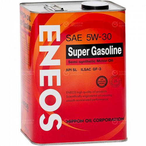 Eneos Моторное масло для автомобиля ENEOS GASOLINE SEMIS-C 5W-30 SL 4 л